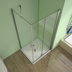Obdélníkový sprchový kout MELODY 100x90 cm se zalamovacími dveřmi