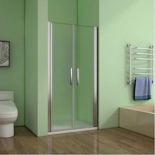 Sprchové dveře SAFE D2 100 FROST dvoukřídlé 96-100 x 195 cm