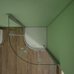 Čtvrtkruhový sprchový kout MELODY S4 90 cm s dvoukřídlými dveřmi