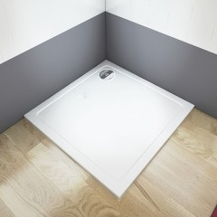 THOR Sprchová vanička z litého mramoru,  čtverec, 90x90x3 cm