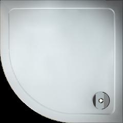 Čtvrtkruhový sprchový kout SYMPHONY S4 80 cm s dvoudílnými posuvnými dveřmi včetně sprchové vaničky z litého mramoru