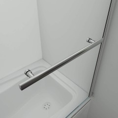 Vanová zástěna S11H FLAG 80x140cm - jednodílná sklopná, čiré sklo, s držákem na ručníky