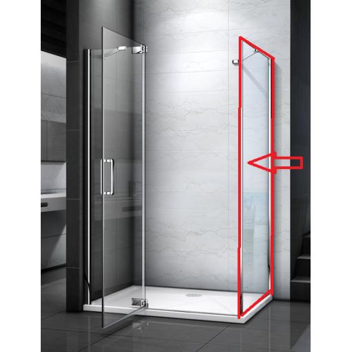 TIFANY F1 100 pevná boční stěna do kombinace s dveřmi, 98-100 x 200 cm