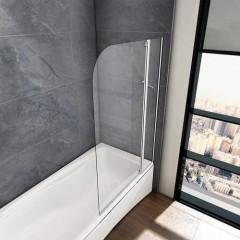Vanová zástěna s pevnou stěnou V22 100 cm, čiré sklo