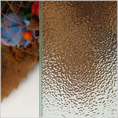 Čtvercový sprchový kout MELODY A1 90 cm s jednokřídlými dveřmi včetně sprchové vaničky z litého mramoru, sklo GRAPE, levá varianta