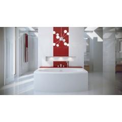 Akrylátová vana  TELIMENA 160 x 75 cm