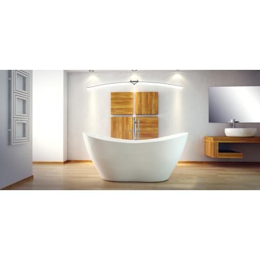 VIYA 160x70 cm volně stojící koupací vana z litého mramoru