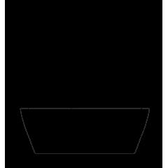 VICTORIA 160x75 cm volně stojící koupací vana