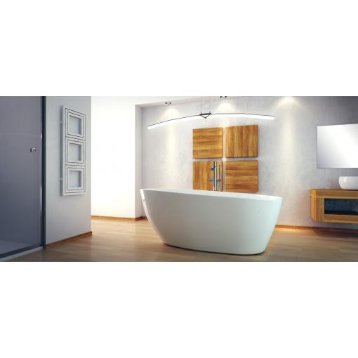 GOYA 160x70 cm volně stojící koupací vana z litého mramoru