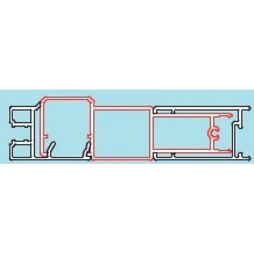 SanSwiss spojovací profil pro dveře a boční stěnu v rovině, PFL