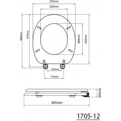 AQUALINE WC sedátko, MDF, třešeň (1705-12)