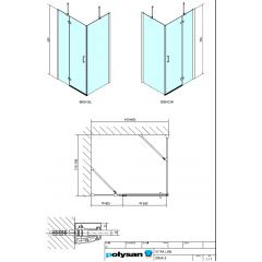 POLYSAN - VITRA LINE zástěna, obdélník 1000x800mm, levá, čiré sklo (BN5415L)