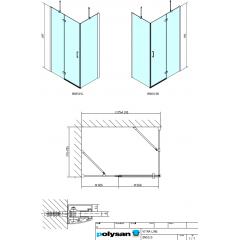 POLYSAN - VITRA LINE zástěna, obdélník 1200x800mm, pravá, čiré sklo (BN5515R)