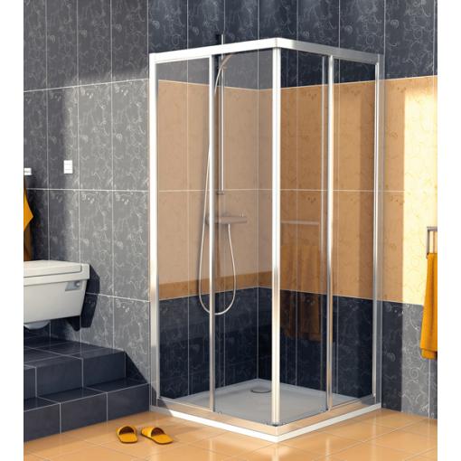 SanSwiss ECOAC 0700 50 07 Sprchový kout čtvercový 70×70 cm, aluchrom/sklo