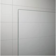 SanSwiss TOPF 0800 50 07 Boční stěna 80 cm, aluchrom/sklo