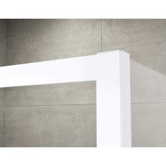 SanSwiss ECOAC 1000 04 07 Sprchový kout čtvercový 100×100 cm, bílá/sklo