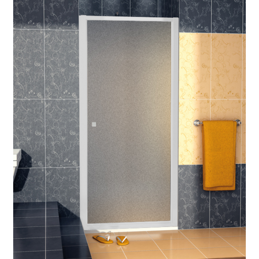 SanSwiss ECOP 0700 01 22 Jednokřídlé dveře 70 cm, matný elox/durlux