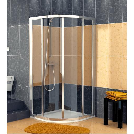 SanSwiss ECOR 50 100 50 07 Sprchový kout čtvrtkruhový 100×100 cm, aluchrom/sklo