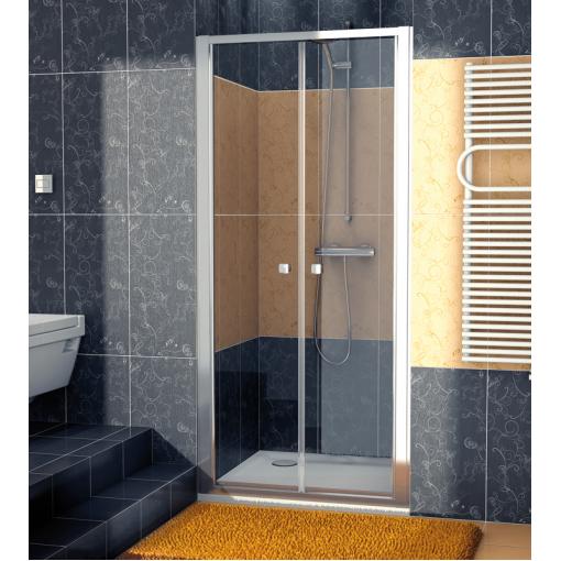 SanSwiss ECP2 0800 50 07 Dvoukřídlé dveře 80 cm, aluchrom/sklo
