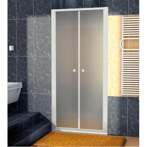 SanSwiss ECP2 0900 01 22 Dvoukřídlé dveře 90 cm, matný elox/durlux
