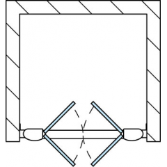 SanSwiss TOPP2 0900 50 07 Dvoukřídlé dveře 90 cm, aluchrom/sklo