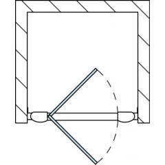 SanSwiss TOPP 1000 01 07 Jednokřídlé dveře 100 cm, matný elox/sklo