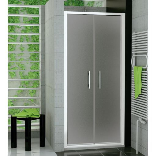 SanSwiss TOPP2 1000 04 22 Dvoukřídlé dveře 100 cm, bílá/durlux