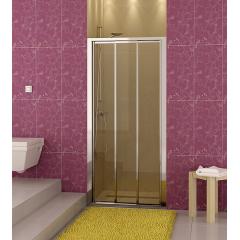 SanSwiss TOPS3 0700 50 07 Sprchové dveře třídílné 70 cm, aluchrom/sklo