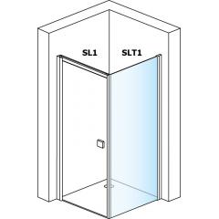 SanSwiss SLT1 1000 01 07 Boční stěna sprchová 100 cm, matný elox/sklo