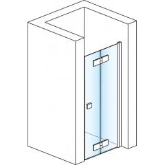 SanSwiss SLF1D 0750 50 07 Sprchové dveře dvoudílné skládací 75 cm pravé, aluchrom/sklo
