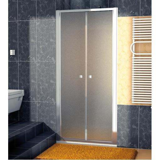 SanSwiss ECP2 1000 50 22 Dvoukřídlé dveře 100 cm, aluchrom/durlux