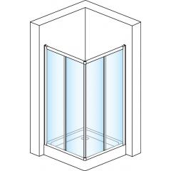 SanSwiss ECOAC 0800 50 07 Sprchový kout čtvercový 80×80 cm, aluchrom/sklo