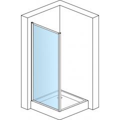 SanSwiss TOPF 1000 50 07 Boční stěna 100 cm, aluchrom/sklo
