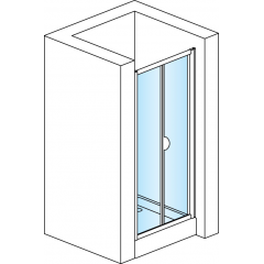 SanSwiss TOPK 1000 50 22 Zalamovací dveře 100 cm, aluchrom/durlux
