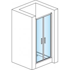 SanSwiss TOPP2 1000 04 44 Dvoukřídlé dveře 100 cm, bílá/cristal perly