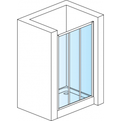 SanSwiss TOPS3 0800 04 22 Sprchové dveře třídílné 80 cm, bílá/durlux