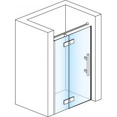 SanSwiss PU13PG 140 10 22 Sprchové dveře jednodílné 140 cm levé, chrom/durlux