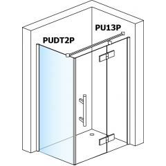 SanSwiss PUDT2P 080 10 30 Boční stěna sprchová 80 cm, chrom/mastercarré