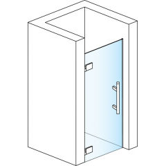 SanSwiss PUR1G 090 10 07 ATYP SM1 Jednokřídlé dveře 90 cm levé, chrom/sklo PUR1GSM11007
