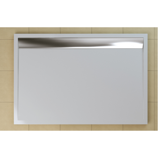 SanSwiss WIA 80 120 50 04 Sprchová vanička obdélníková 80×120 cm bílá, kryt aluchromový, skládá se z WIA 80 120 04 a BWI 120 50 04