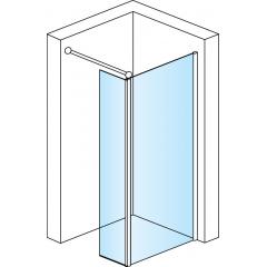 SanSwiss FBD2 0750 50 07 Pevná stěna vanová s krátkou stěnou 75 cm, aluchrom/sklo