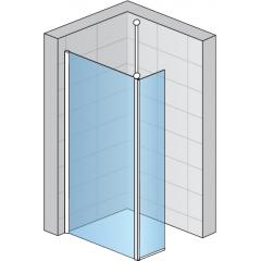 SanSwiss FUD2 1000 50 44 Pevná stěna s krátkou otočnou stěnou 100 cm, aluchrom/cristal perly