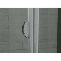 SanSwiss TOPK 1000 50 07 Zalamovací dveře 100 cm, aluchrom/sklo