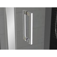 SanSwiss TOPP2 0800 04 22 Dvoukřídlé dveře 80 cm, bílá/durlux