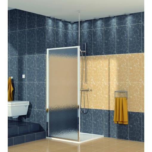 SanSwiss ECOF 0800 50 22 Boční stěna sprchová 80 cm, aluchrom/durlux