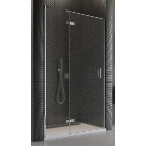 SanSwiss PU13PG 100 10 44 Sprchové dveře jednodílné 100 cm levé, chrom/cristal perly