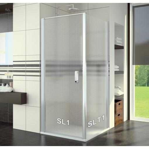 SanSwiss SL1 0800 01 30 Sprchové dveře jednokřídlé 80 cm, matný elox/mastercarré