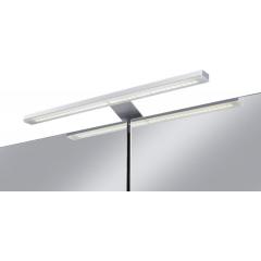 Jokey Plastik DEKOR ALU LED Zrcadlová skříňka - zrcadlově proužkovaná, š. 65,5cm, v. 71,5cm, hl. 15,5cm 124512020-0122