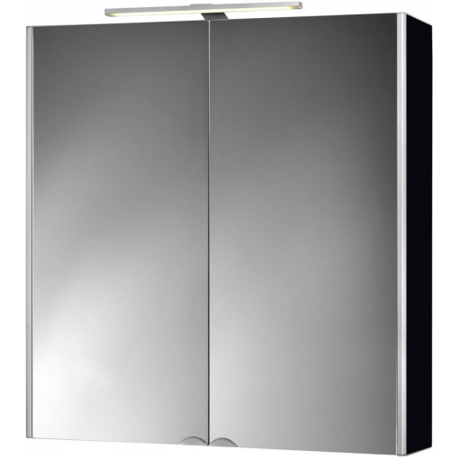 Jokey Plastik DEKOR ALU LED Zrcadlová skříňka - černá, š. 65,5cm, v. 71,5cm, hl. 15,5cm 124512020-0700