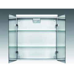 Jokey Plastik DEKOR ALU LS Zrcadlová skříňka - černá, š. 65,5cm, v. 71,5cm, hl. 15,5cm 124612020-0700